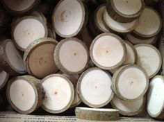 50 tea light holders from an aspen tree wedding rustic decor candles DIY table decor. $13.00, via Etsy.