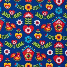 Bio-Lillestoff-Jersey, Folklore/ Retro (15-012) von Das Blaue Tuch auf DaWanda.com