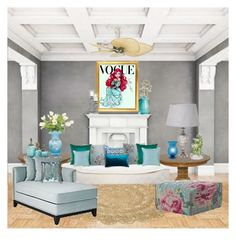 """""""Ariel's livingroom"""" by anawinchester ❤ liked on Polyvore featuring interior, interiors, interior design, home, home decor, interior decorating, Disney, DutchCrafters, Fanimation and Kim Salmela"""