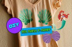 DIY: Mermaid Sea Shell Printed T-Shirt