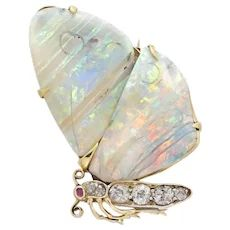 A Victorian Opal And Diamond Butterfly Brooch Insect Jewelry, Butterfly Jewelry, Animal Jewelry, Opal Jewelry, Jewelry Shop, Jewelry Accessories, Fine Jewelry, Jewelry Design, Victorian Jewelry