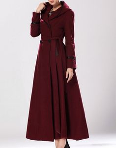 ★ This is a classic of hooded jacket, noble and elegant classic beauty. 50% wool, thick, soft, stretch, the big pendulum. The edge of the clothes is