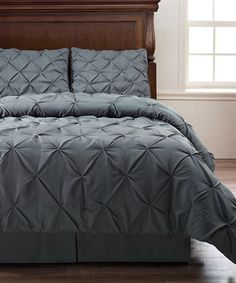 Love this Charcoal Pinch Pleat Comforter Set on #zulily! #zulilyfinds