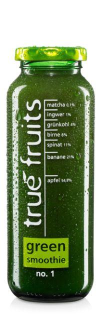 true fruits green smoothie no. 1 (mit Spinat, Grünkohl + Matcha)