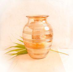 Vintage Peach Lusterware Glass Vase by TheOtherLifeVintage on Etsy, $22.00