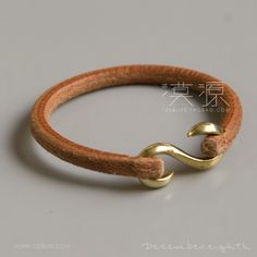 Leather bracelets 'S' hook