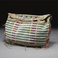 A Sioux Beaded Hide Possible Bag | Lot | Sotheby's