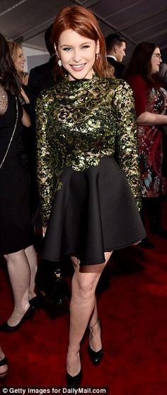 Redheads have more fun: (L-R) Katherine McNamara (wearing Olcay Gulsen Collection), Sarah ...