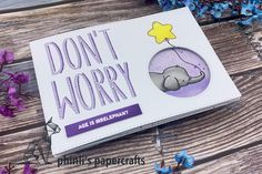 peek-a-boo card Interactive Cards, Peek A Boos, Don't Worry, Blue Bird, No Worries, Cardmaking, Paper Crafts, Age, Birthday