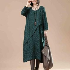 Cotton Linen Loose Autumn Dress