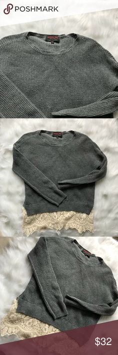 Active usa gray lace sweater Perfect condition no flaws True to size active usa Sweaters
