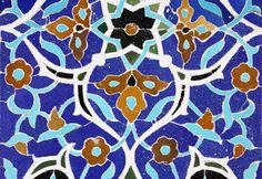 the older style of tile work where every colour is a different tile, a tile inlay. later multicoloured tiles replaced this time-consuming technique. Tile Art, Mosaic Art, Tiles, Pattern Drawing, Pattern Art, Islamic Patterns, Geometric Patterns, Paisley Art, Islamic Paintings