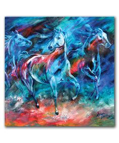 Look what I found on #zulily! Equus Moonlight Run Wrapped Canvas #zulilyfinds
