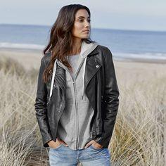 The White Company US | Leather Biker Jacket. Pinning from the UK? -> http://www.thewhitecompany.com/Leather-Biker-Jacket/p/LBCJK?swatch=Black