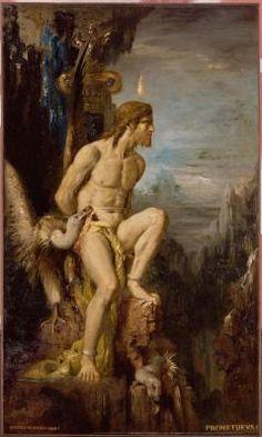 """Gustave Moreau, """"Prométhée"""", huile sur toile, Paris, Musée Gustave Moreau, Cat. 196"""