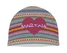 Il colorato cappello in pile variopinto