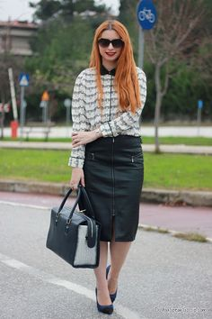 Prints & leather 6- outfit - DoYouSpeakGossip.com