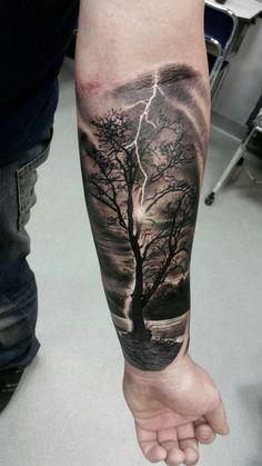 Tree tattoo by Adam at Holy Grail Tattoo Studio