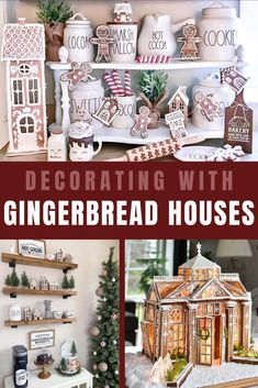 Today we want to share the idea of decorating with gingerbread houses. Gingerbread houses deserves to be displayed center stage. Gingerbread houses by Rae Dunn or edible pieces all should be in the spotlight. Gingerbread Christmas Decor, Gingerbread Decorations, Gingerbread Houses, Christmas Decorations, Christmas Holidays, Christmas Crafts, Country Christmas, Merry Christmas, Holiday Ideas