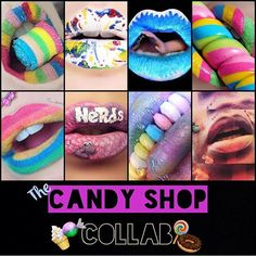 """Holy Candy Shop Collab!!!!! I was so honored to work with all these talented ladies! Thanks @lipsticklina for hosting the collab  @makeupmadhouse4 Jawbreaker @lipsticklina Xtreme  @theminaficent Lollipop @catsalasmua Nerds @vain_anatomy Gummy Sharks @danae_jean Candy Necklace @emileebdesigns Airhead XTreme @sexybootsmakeup Cotton Candy"" Photo taken by @makeupmadhouse4 on Instagram, pinned via the InstaPin iOS App! http://www.instapinapp.com (08/09/2015)"