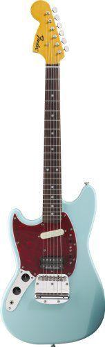 Fender Kurt Cobain Mustang Left-Hand Electric Guitar, Rosewood Fingerboard - Sonic Blue