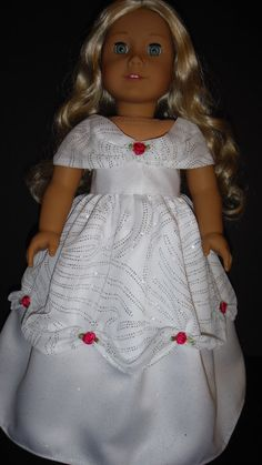 American Girl Doll Clothes  White Belle Gown by susiestitchit, $21.50