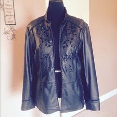 Leather Jacket Genuine Leather Jacket in almost perfect condition. Looks brand new! Coldwater Creek Jackets & Coats
