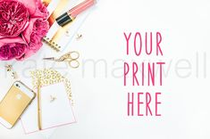 awesome #384 KATE MAXWELL Styled Mockup  #background #desk #desktop #empty #feminine #flowers #frame #gold #mockup #modern #office #photography #pretty #print #product #stock #STYLED #STYLING #supplies #woman