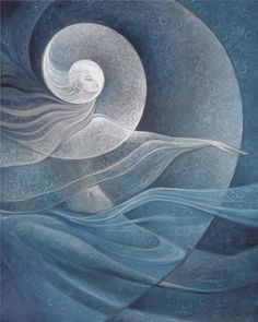 Full Moon Goddess by Freydoon Rassouli Art Visionnaire, Illustrator, Goddess Art, Moon Goddess, Air Goddess, Surrealism Painting, Sacred Feminine, Chef D Oeuvre, Good Vibes