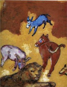 The Lion Grown Old  - Marc Chagall, 1927