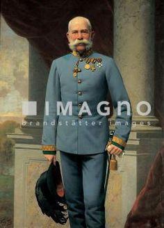 Kaiser Franz Joseph I. Gemälde von Wilhelm Vita. 1893. Öl/Lwd.