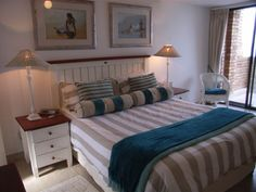 Main bedroom with white furniture - Zest Holidays accommodation Cottage Furniture, White Bedroom Furniture, Holiday Accommodation, Cushion Fabric, Beach Cottages, Cushions, Holidays, House, Home Decor