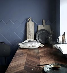 From ikea: Barkaboda Countertop ($229 for a 74-by-25⅝ -inch piece with two edging strips): The rage for shiplap and rustic wood furniture has migrated to the kitchen, where a chevron walnut countertop has an earthy appeal. The pattern creates an almost custom look. For mudroom counter?