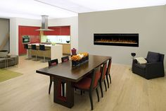 Prism Linear Electric Galveston Wall-mount Fireplace