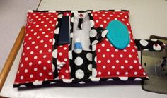 Polka dot diaper clutch diaper bag travel bag baby bag