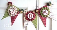 Stampin' Up!  Joy Banner  Rosemarie Diehl  Christmas