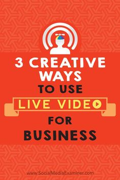 Live video helps you stand out from the competition by making your marketing interactive. In this article, you��ll discover three creative ways to use live video in your social media marketing.-Watch Free Latest Movies Online on Moive36
