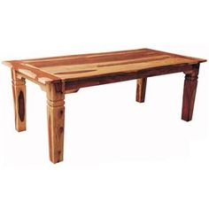 "Brazil 70"" Solid Wood Dining Table #NaturalLiving"