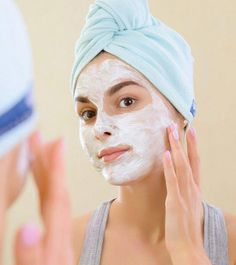 8 Amazing Benefits Of Yogurt Face Mask #OrganicSkinCareHomemade #AvocadoFaceMaskRecipe Logo Swarovski, Yogurt Benefits, Yogurt Face Mask, Face Mask For Blackheads, Natural Acne Remedies, Too Faced, Dull Skin, Homemade Face Masks, Amigurumi