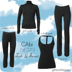 #CAbi Fall-13 Trend :: Tech // Sweat. CAbi has taken on the athletic market! Super flattering, great fit, made to wear forever!