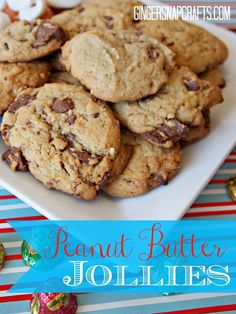 Ginger Snap Crafts: Peanut Butter Jollies & Candy Cane Cupcakes {holiday recipes} #holidaycandy #cbias