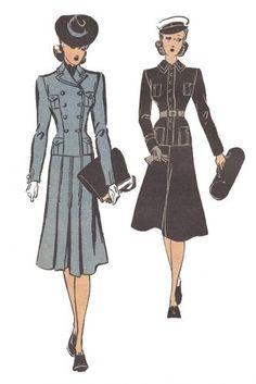 1940s WW2 shows the military influence across fashion and accessories.