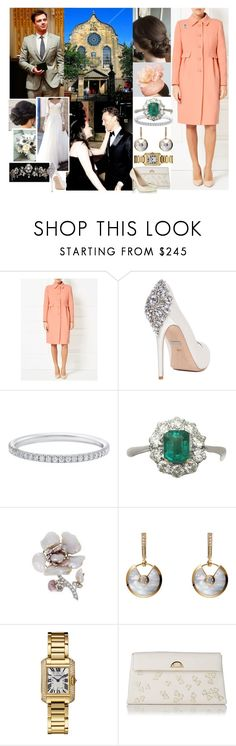 """""""Attending the wedding of her cousin, Lord Matthew Stuart, Marquess of Bowmont and Cessford and Lady Cecilia FitzMaurice at Canongate Kirk, Edinburgh"""" by maryofscotland ❤ liked on Polyvore featuring Sebastian Professional, Windsmoor, Badgley Mischka, L.K.Bennett and Sergio Rossi"""