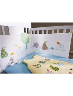 Tour de lit bébé bio thème Fruity MULTICOLORE - vertbaudet enfant Ne le mettre qu'une fois que l'enfant bouge, tourne (pas au début), et en prendre un fin