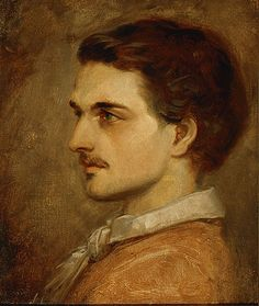 Anselm Feuerbach (German, 1829-1880). Self-Portrait, 1853. Oil on canvas. 18 x 15 in. Charles and Emma Frye Collection, 1952.045