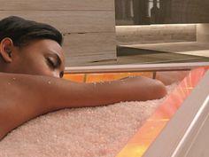 Himalayan Salt Room, Himalayan Salt Crystals, Massage Bed, Good Massage, Salt Room Therapy, Reiki, Salt Cave, Crystal Room, Massage Business
