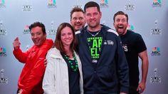 Surprise! Chris Pratt and Chris Evans Help Jimmy Fallon Photobomb Fans at Super Bowl #InStyle