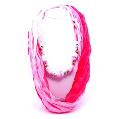 Shop this Pink Scarf Patchwork Beads Necklace at Rs.649 & save 40% on this. Use code OFF100 to get Rs.100 discounts. Hurry... Buy Today @ Trendymela.com