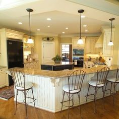 Large Open Kitchen Design, Pictures, Remodel, Decor and Ideas - page 5