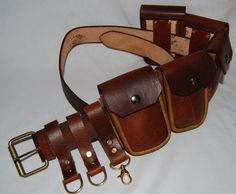 Steampunk Belt with Pouches by DaVinciSteampunk on Etsy